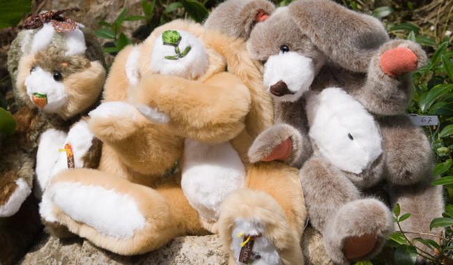 Création de lapins en peluche